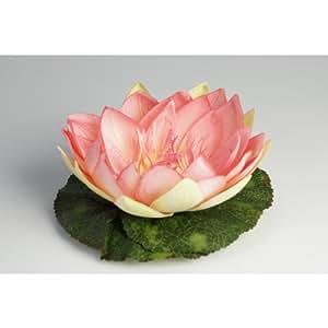Fleur de lotus en tissu, flottante, rose, 10 cm, Ø 20 cm - Nénuphar artificiel / Lotus artificiel - artplants