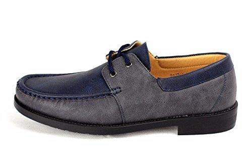 hommes neuve À Enfiler Chaussures Bateau Conduite Moccasin chic décontracté Mocassin Taille 6-12 Bleu marine/gris