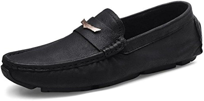 Zapatos de Verano de Cuero Genuino de los Hombres Zapatos de Negocios de Fondo Suave