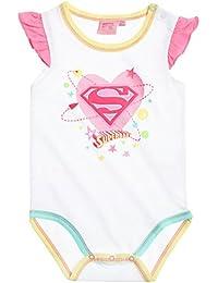 Body manches courtes bébé fille 'Superbaby' Blanc de 3 à 24mois