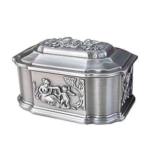 schmuckkästchen damen, Metall-Schmuckschatulle Europäische Retro-Engel Aufbewahrungsbox, Geschenkbox aus Zinklegierung