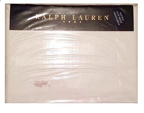 Ralph Lauren matrimoniale lenzuolo. Bianco RRP £ 65.00