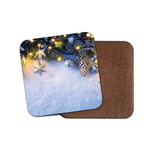 #15028 Untersetzer mit Weihnachtsdekoration, Weihnachtsbaum, lustiges Geschenk