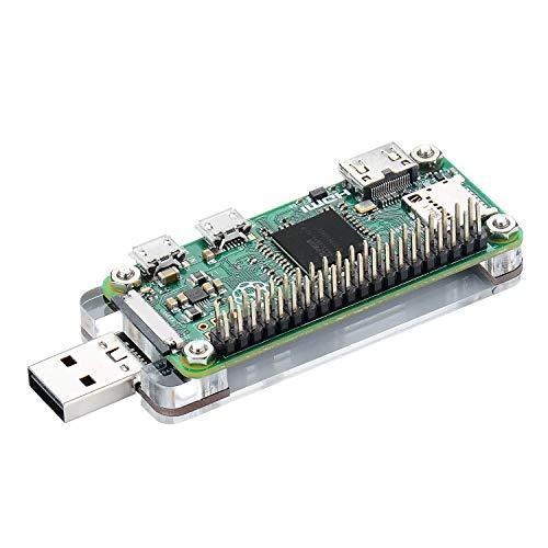 Burnell Wilcox Proyectos de programación USB Dongle mit Acrylschild for Raspberry Pi Zero W/Zero para Raspsberry Pi 4, Frambuesa Pi 3 B +, Pi Zero W