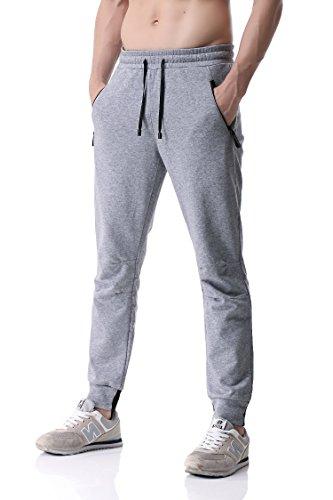 Pau1Hami1ton PH-24 Pantaloni Sportivi Uomo Pantalone Jogger Fitness Jogging Sweat Pants(L, Grey)