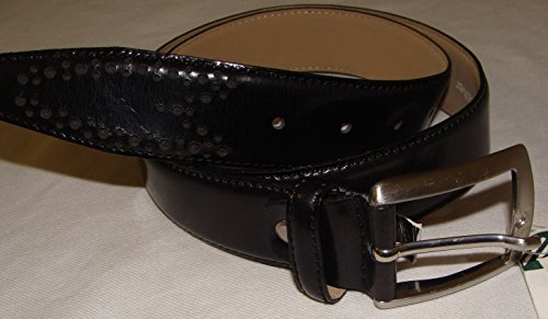 john-lewis-mens-black-leather-belt-small-30-32-rrp-35