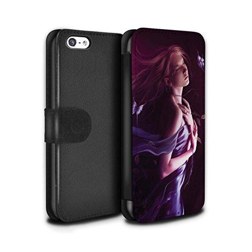 Officiel Elena Dudina Coque/Etui/Housse Cuir PU Case/Cover pour Apple iPhone 5C / Reine des Forêts Design / Un avec la Nature Collection Par le Vent