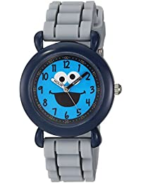 eWatchFactory Boy's 'Sesame Street' Quartz Plastic and Silicone Casual Watch, Color:Grey (Model: WSS000029)