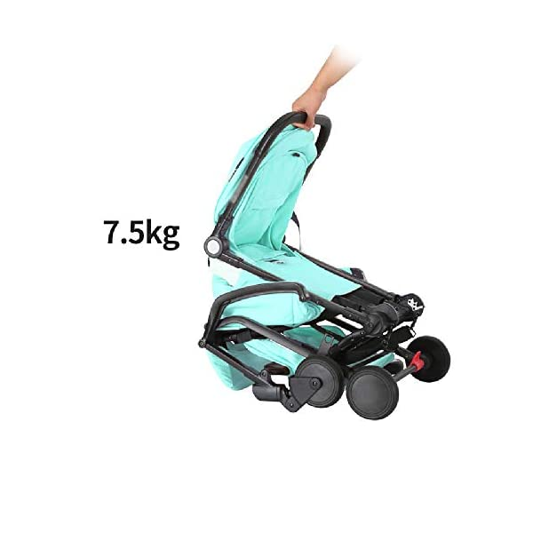 Tao-Miy Lightweight Stroller Buggy, Travel Buggy with Reclinable Backseat Easy Fold Compact Airplane Stroller, (0-36 Months) Tao-Miy ★〖Comfort〗 Multi-range adjustment seat, convenient for your baby's various needs, can sit and recline, height adjustable seat belt, suitable for different heights of the baby. ★〖Safety〗 High-strength load-bearing suspension frame structure, effectively disperse and mitigate vibration; built-in spring shock absorption on the front wheel, freely adjust according to road conditions, reduce vibration. ★〖More convenient〗 The body is made of new lightweight aerospace aluminum alloy, which can be taken on board, high-speed rail and bus. Easily put into the trunk of your car. As soon as you it, you will receive it. 3