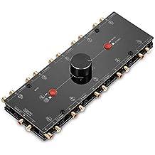 nobsound Little Bear MC1101en de 10out 3.5mm/RCA mono/stéréo analogique audio commutateur; passive Speaker/Préampli Amplificateur de puissance Selector–Répartiteur audio