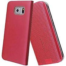 Funda Samsung Galaxy S6 EDGE Plus, Ordica ES®, Carcasa Samsung Galaxy S6 EDGE Plus Con Tapa a libro Case Slim Resistente Case Accesorios Anti Golpes, Color Burdeos -