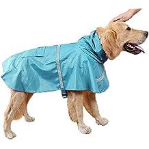 Impermeable Ropa De Perros Impermeable Prendas De Vestir Chaqueta De Lluvia Ligero Con Altas Calidades Respirables Poncho Con Tira Reflectante