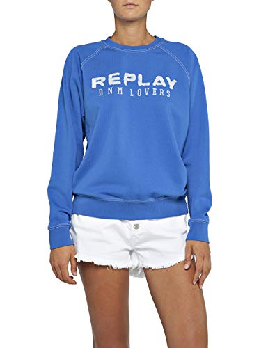 Replay Damen W3152 .000.22390P Sweatshirt, per Pack Blau (Sky 279), Medium (Herstellergröße: M)