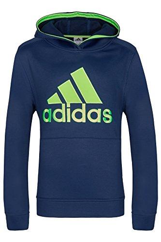 Adidas Climalite Hoodie für große Jungs, Kapuzenpullover, Blau, L (14-16 Jahre) (Hoodie 15)