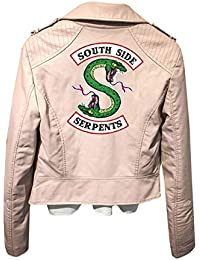 quality design 361cd 6a26d Giacca Serpents Riverdale Giacca Donna Pelle Invernali Riverdale Southside  Serpents Faux Leather Jacket Elegante Black Cappotto