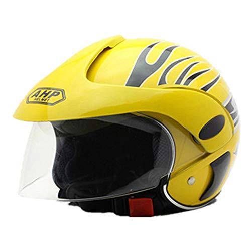 Motorrad-Helm für Kinder/Warmer und windfester Halbhelm ATV Roller Helm Jungen und Mädchen leichte Schutzkappe (3-7 Jahre)