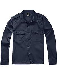 Brandit Hombres Camisa 1/1 Manga Larga Navy tamaño XL