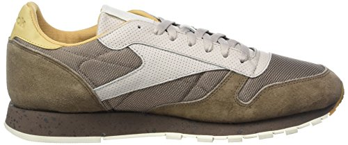 Reebok Classic Leather SM, Scarpe da Ginnastica Basse Uomo Beige (Stone Grey/sand Stone/urbn Gry/beige/chlk/wht)