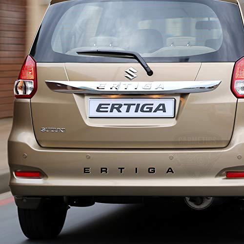 Carmetics Ertiga 3D Letters for Maruti Suzuki Ertiga - Maruti Suzuki Ertiga Accessories 3D Stickers Logo Emblem Graphics - Glossy Black 1 Set