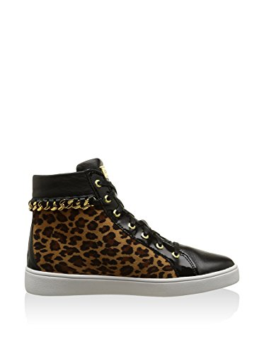 Guess Sneaker Damen Stiefel Gloria Active Lady Eco Leather hette Gold Leopardato