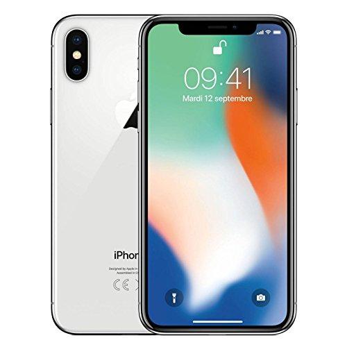 Apple iPhone X Single SIM 4G 64GB Silver - smartphones (14.7 cm (5.8'), 64 GB, 12 MP, iOS, 11, Silver)