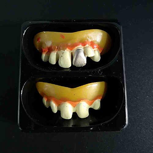 OLUYNG Vampir Zähne Zähne Zahnersatz Requisiten Halloween Kostüm Requisiten Gastgeschenke Maske Urlaub DIY Dekorationen