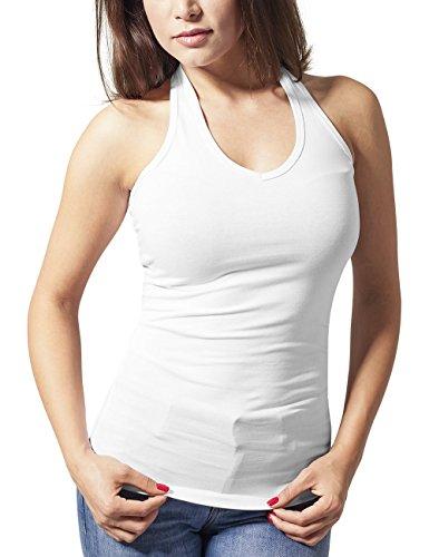 Urban Classics Ladies Neckholder Shirt, Tank Top Donna Weiß (white 220)