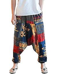 Gusspower Pantalones De Harén Bombachos Hombre Mujer 093ee27d34dc