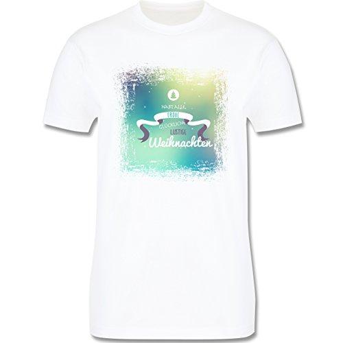 Weihnachten & Silvester - Frohe Weihnachten Bunt Vintage - Herren Premium T-Shirt Weiß