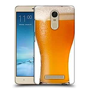 Snoogg Beer Glass Designer Protective Back Case Cover For REDMI NOTE 3