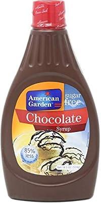 American Garden Sugar Free Chocolate Syrup, 524g