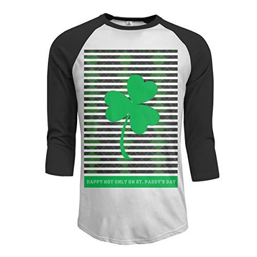 St Pattys Tag-t-shirts (Weinlese-glückliches Nicht nur an den Raglan-Ärmeln der Männer des St.-Paddys Baseball-T-Shirts Glückliches T-Shirt St. Pattys Tages Männer Glücklichen St Patrick Tag in den irischen Oberteilen f)