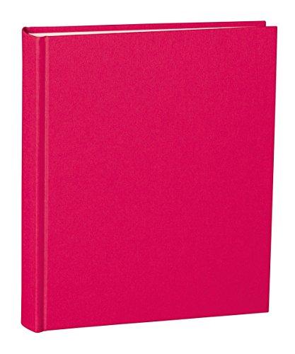 Semikolon Album Medium pink (rosa) | Foto-Album mit 80 Seiten und hochwertigem Buchleinen-Bezug | Foto-Buch mit 40 Blättern cremeweißem Fotokarton mit Pergaminpapier | Format: 21,6 x 25,5 cm -