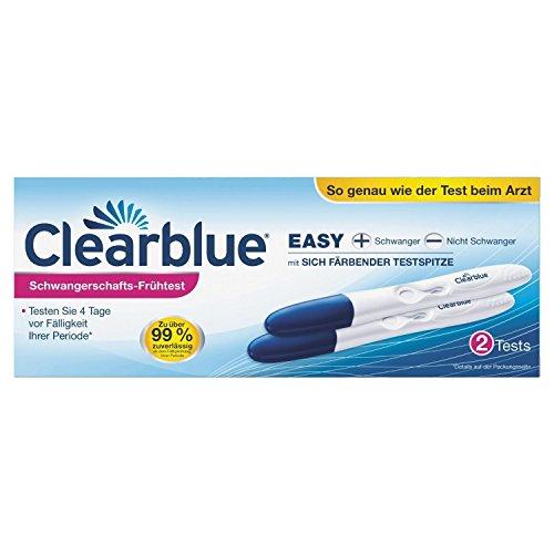 Clearblue Schwangerschaftstest Frühtest 2 Stück + 10 Stück One Step 10 miu ml