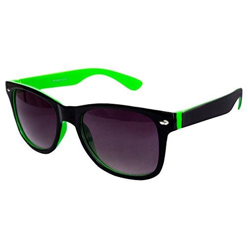 Ciffre Nerdbrille Sonnenbrille Stil Brille Pilotenbrille Vintage Look Schwarz Grün