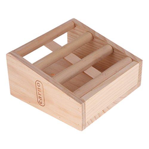 Baoblaze Heuraufe aus Holz für Kleine Nager Hamster Kaninchen Meerschweinchen - Typ 2
