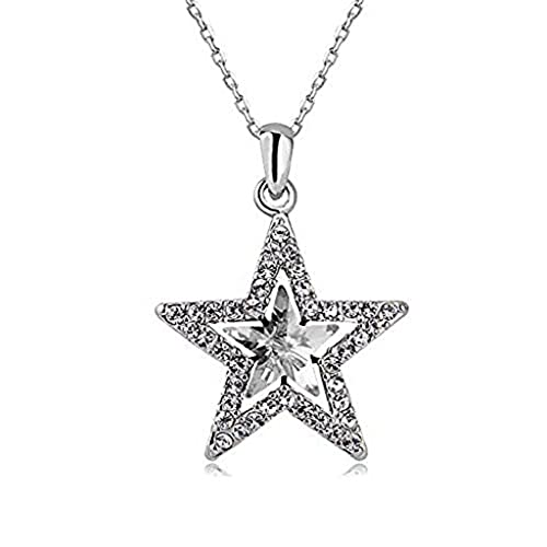 Sterling Silver Star Necklace on 18