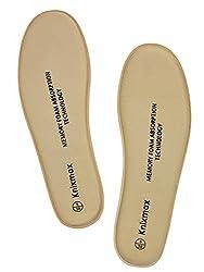 Knixmax Memory Schaum Einlegesohlen für Damen Herren - Weich Komfort SchuhEinlagen für Sport, Freizeit und Beruf - für Arbeitsschuhe, Wanderschuhe, Sneaker Frauen Beige 38 EU