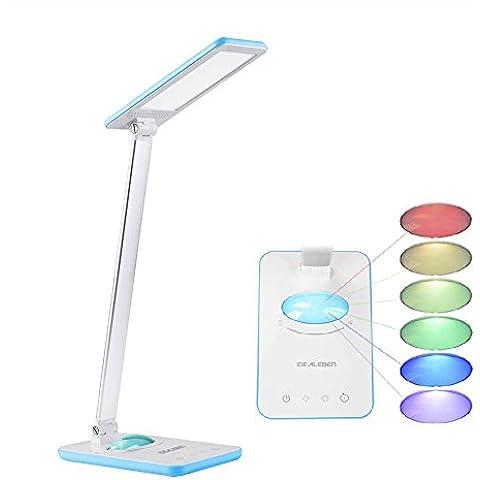 Idealeben Lámpara Escritorio/ LED de Control Multicolor Luz de la Noche / Temporizador de Apagado Automático Tiempo de Auto-OFF/el Brazo Plegable Temporizador con el Mini luz Nocturna de Control Táctil de 7 MultiColores