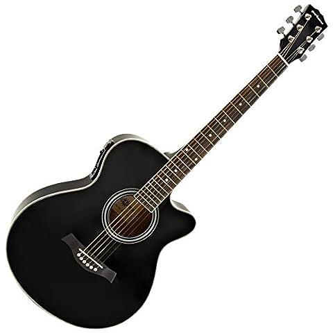 Single Cutaway Elektro-Akustik Gitarre schwarz (Single Cutaway Gitarre)