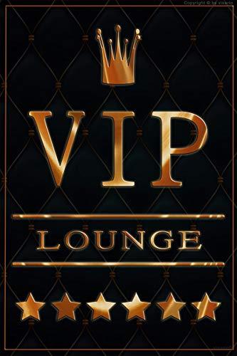 Visario Bild Blechschild VIP Lounge 30x20cm 2303 Verschiedene Bilder Wandbilder zur Auswahl.
