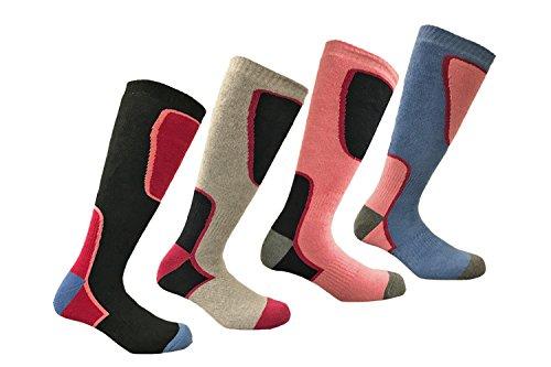 i-Smalls 4 Paires de Chaussures de Ski de Haute Performance pour Femmes Chaussettes Thermiques à Manches Longues