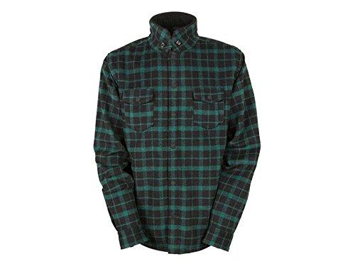 686Herren parklan Divide Sherpa Jacke XL Green Plaid 686 Snowboard-outerwear