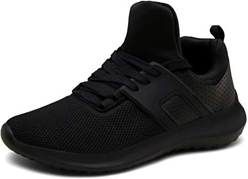 Vedaxin Donna Uomo Scarpe da Ginnastica Respirabile Sneakers Running Scarpe Sportive Corsa,XZ646A-black-EU38