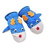 Hikfly Mittens Guanti per bambini Ragazze Ragazzi Per i più piccoli antivento Inverno Impermeabile anil bambino manopole termici sportivi all'aperto Regali di Natale (Cervo, Bambini di 3-6 anni, Blu)
