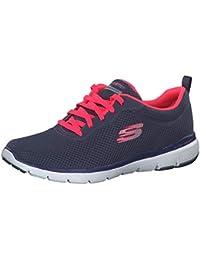 Skechers Damen Flex Appeal 3.0 Sneaker, hot pink/schwarz