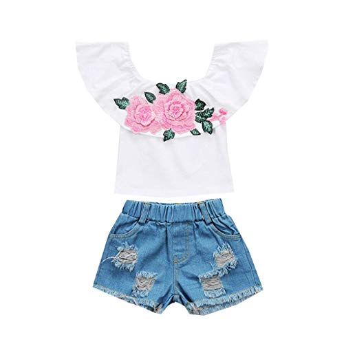 Shirts Tops+Shorts Mädchen, Kleidung Kinder Mädchenkleidung Hosen Pumphose Kinderhemden Kinderblusen Kinderhosen Mädchenmode Babyausstattung Bekleidungssets