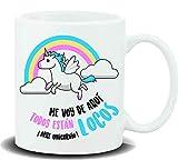 REGALOS LLUNA Taza con Mensaje ME VOY DE AQUÍ Todos ESTÁN Locos ¡ARREE Unicornio!
