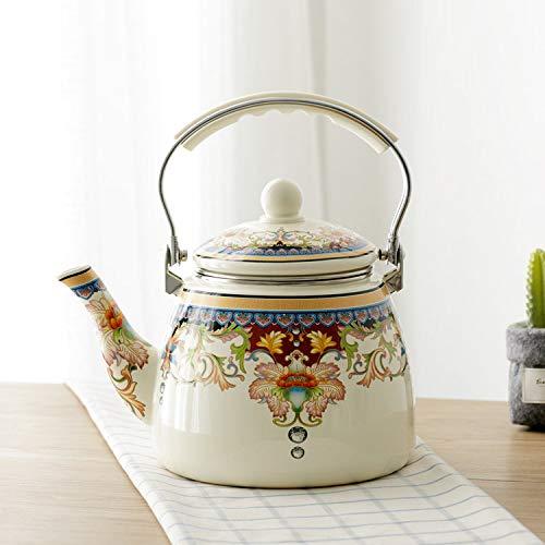 Hervidor de agua de3.3 litroscon fondo plano olla de esmalte tetera cocina de inducción hervidor hotel de negocios familiar café té té de la tarde GM, B