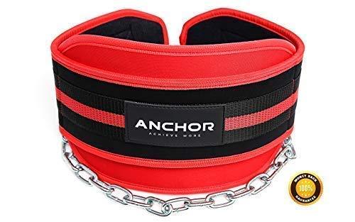 Anchor Sports Cintura per Flessioni, Body Building, Sollevamento Pesi e trazioni, con Catena Lunga 86,4 cm, Ideale per trazioni e Flessioni, per Uomini e Donne